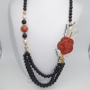 Jewelry - Amazing Vintage Coral and Mother of Pearl Necklace